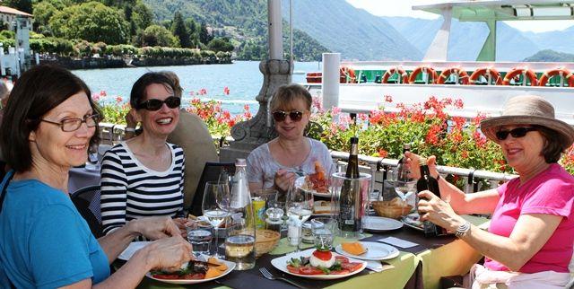 Dinner on Lake Como