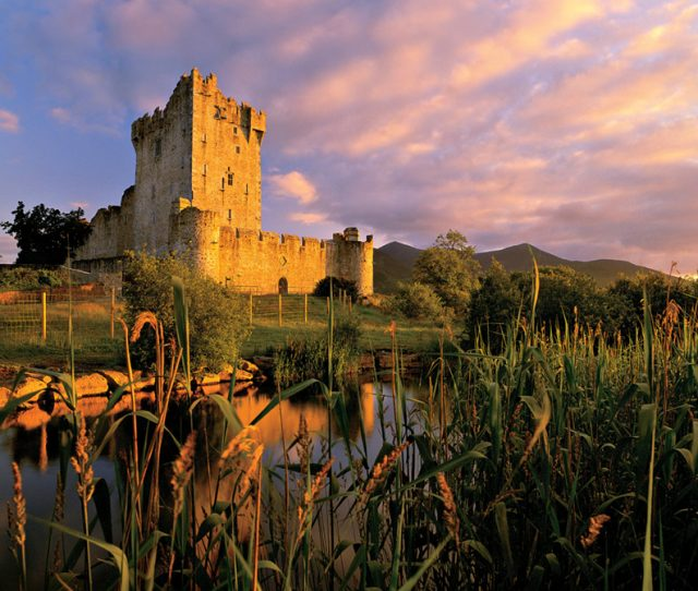 Visit spectacular Irish castles on your walking tour