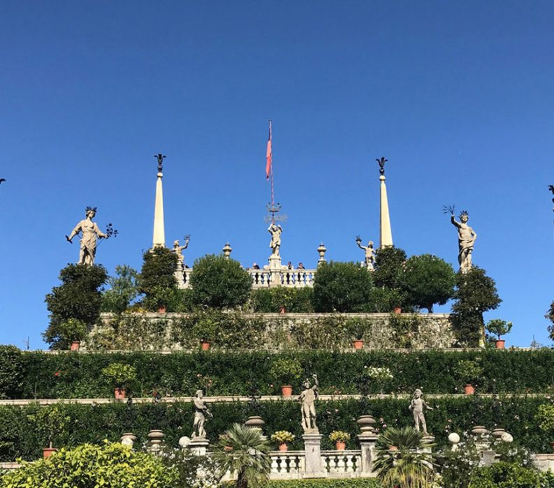 Walking The Italian Lakes Tour - Garden with Statues