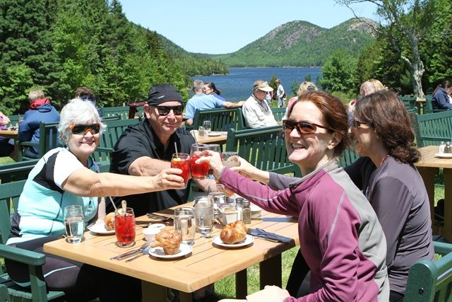 Lunch at Jordan Pond