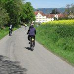 Lake Constance: Germany, Austria & Switzerland - VBT Guests biking into town