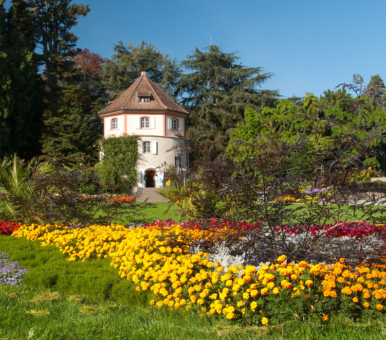 Lake Constance: Germany, Austria & Switzerland - flowers and historic building