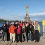 Lake Constance: Germany, Austria & Switzerland - VBT guests in front of statue