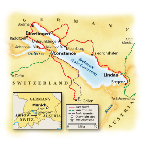 Lake Constance Bike Tour Map