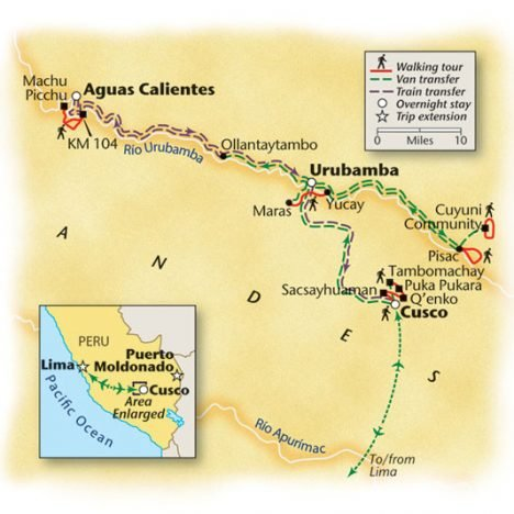 Machu Picchu Walking Tour Map