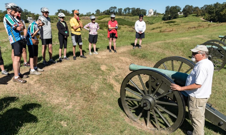 Vicksburg battlefield, Mississippi Bike Tour VBT