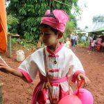 Myanmar boy in traditional clothes