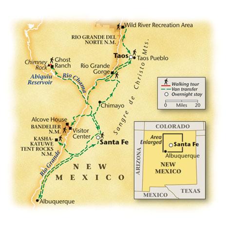 New Mexico Walking Tour Map
