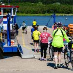 Poland: Cycling Through The Old World - VBT guests getting onto ferry