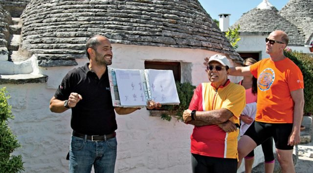 UNESCO trulli house, Alberobello, Puglia Bike tour