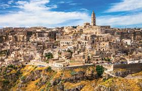 Ancient Matera - cave town in Basilicata, Italy