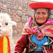 Peru handicraft, alpaca wool, Machu Picchu walking tour with VBT