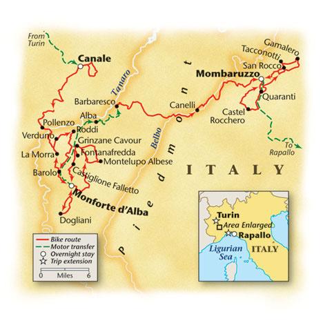 Piedmont Bike Tour Map