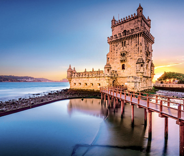 Temperate climate in Portugal