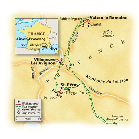 Provence Walking Tour Map