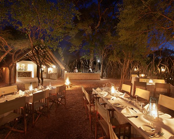 Kapama South Camp Outdoor Dining