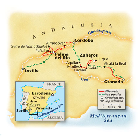 Spain Bike Tour Map