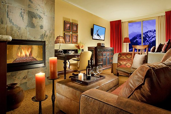 The Lodge at Jackson Hole Fireplace Room