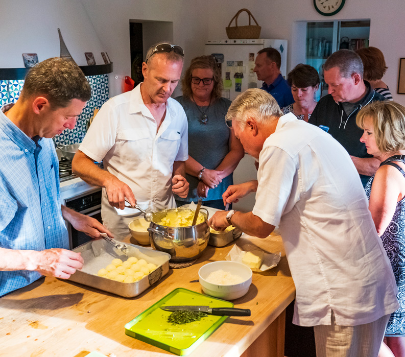 The Tuscan Coast, Italy. Cooking class.