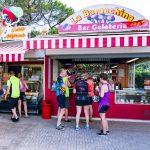 The Tuscan Coast, Italy. Group having gelato.