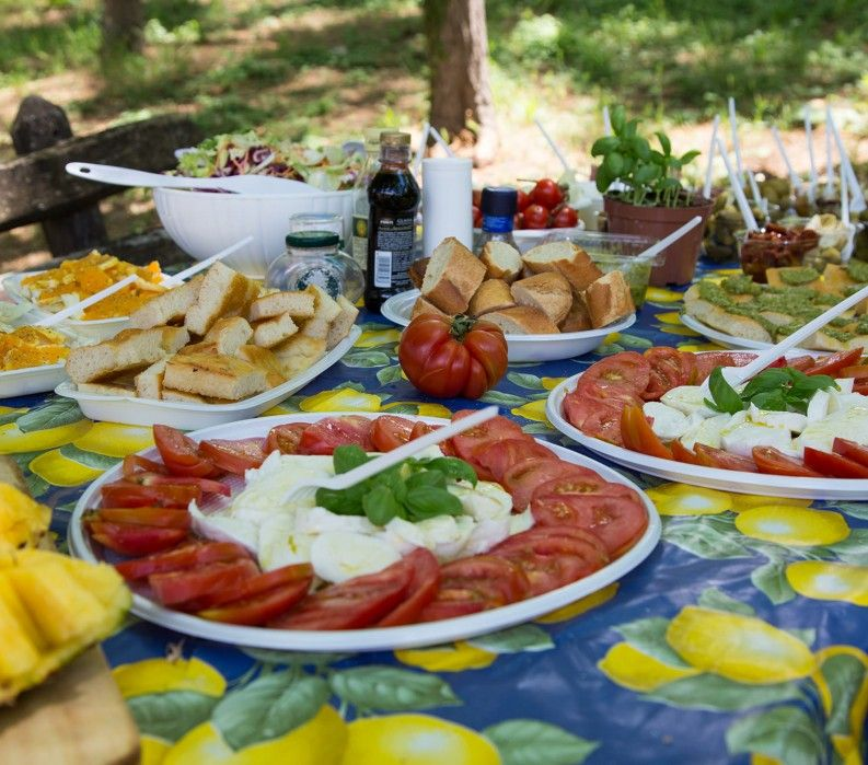 Tuscan picnic lunch