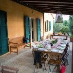 Outdoor dinning in Tuscany