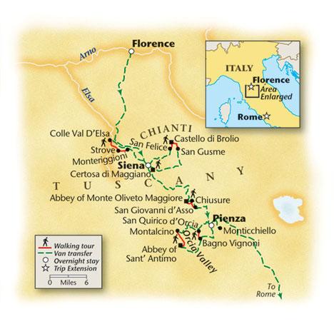 Tuscan Walking Tour Map