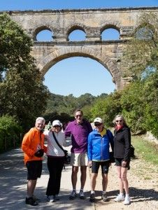 VBT Travelers at Pont du gard