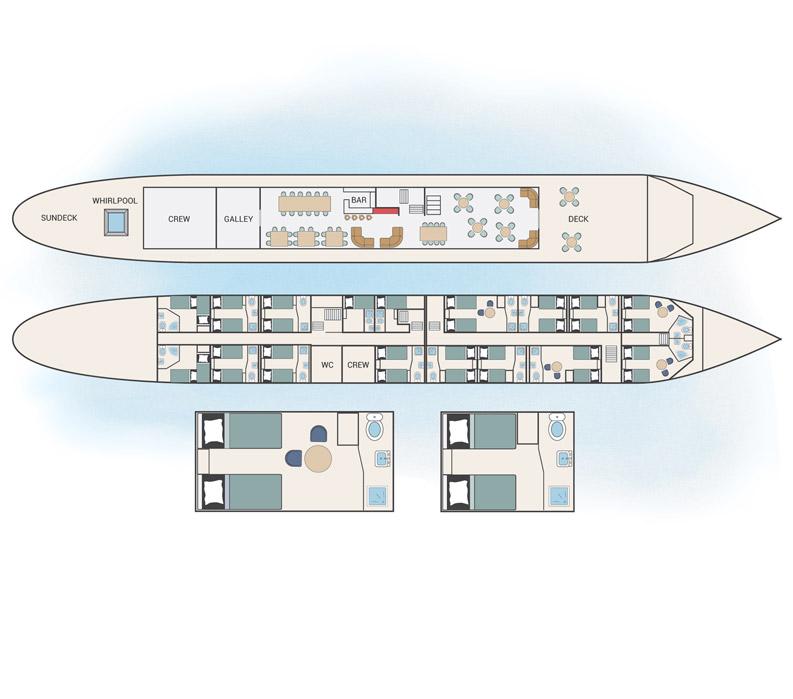 Magnifique ship floorplan