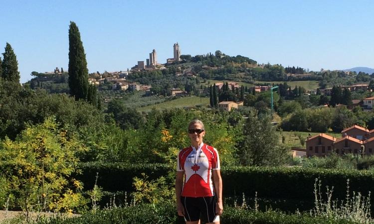 San Gimignano medieval towers, VBT biking tour