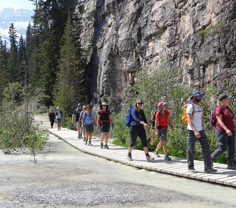 Walk the Canadian Rockies: Banff & Yoho National Parks - Guests walking on boardwalk