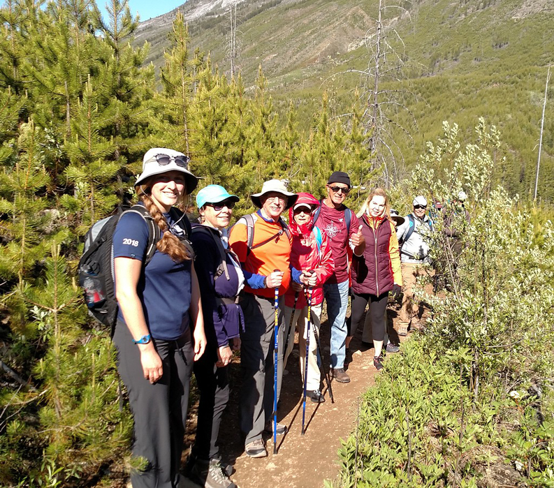 Walk the Canadian Rockies: Banff & Yoho National Parks - group walking