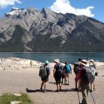 Walk the Canadian Rockies: Banff & Yoho National Parks - group in front of lake