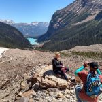 Walk the Canadian Rockies: Banff & Yoho National Parks - guests taking photo in front of beautiful scenery