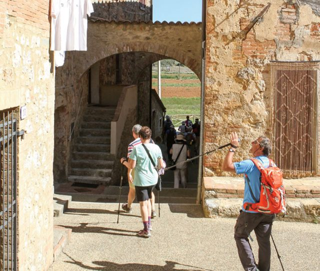 VBT Guests walking Tuscany