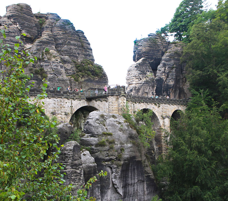 Bastei rock formations
