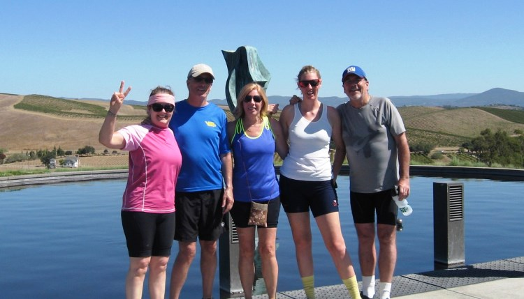 California Bike tour group
