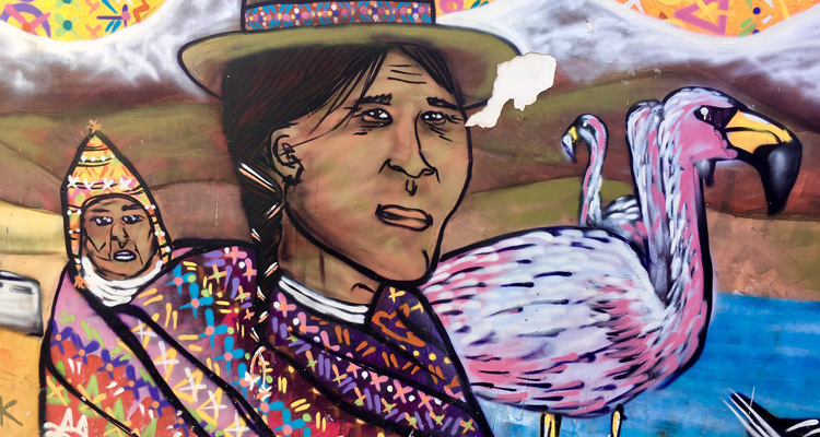 Proud Mapuchu People Mural