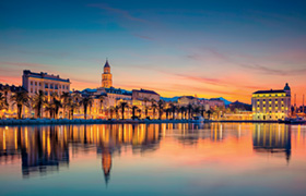 Split. Beautiful romantic old