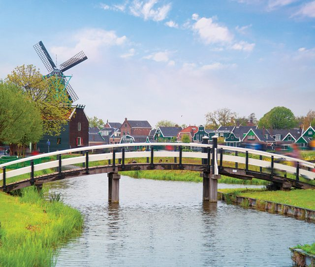 Holland in Springtime Village