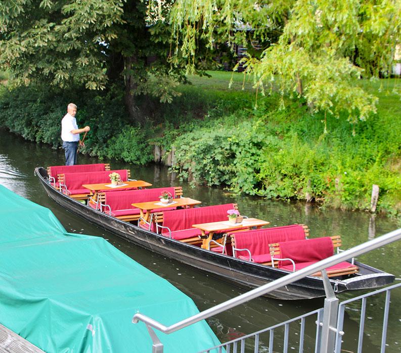 Kahn Boat Ride on German Bike Tour