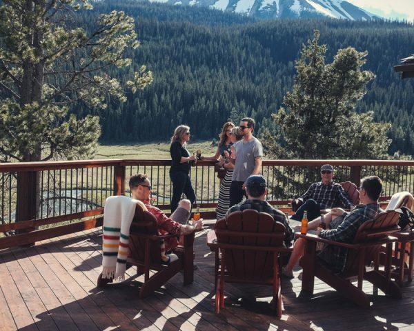 Mt. Engadine Lodge Patio