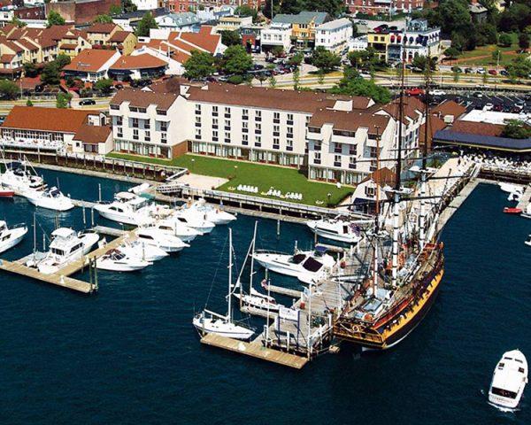the Newport Harbor Hotel Exterior