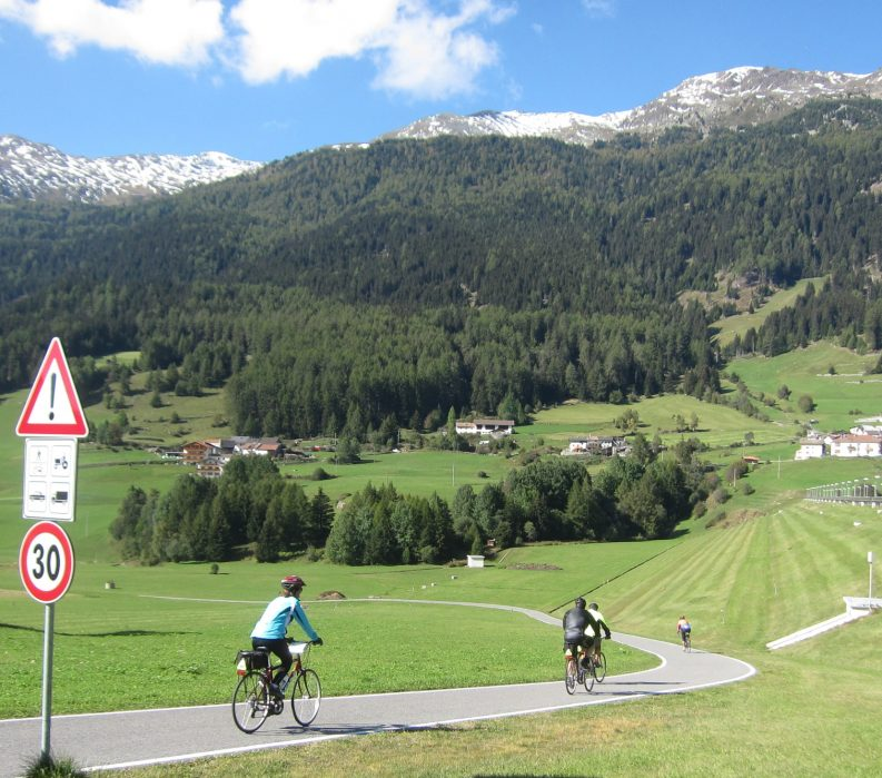 Venosta Valley Bike Path; VBT Dolomites Biking Tour