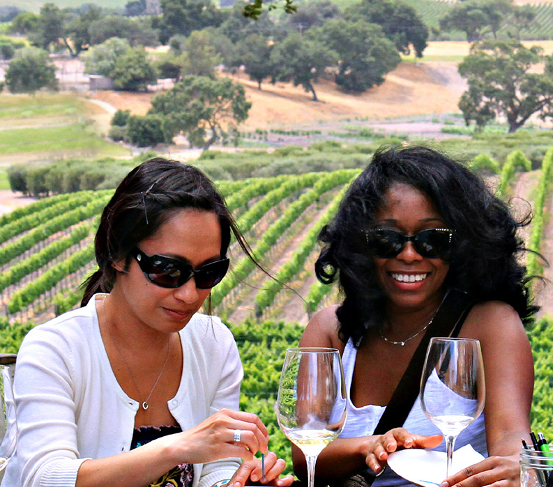 Vineyard Wine Sampling