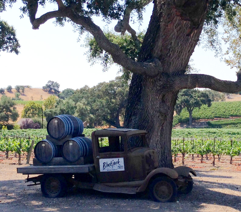 Wine Barrel Truck in California