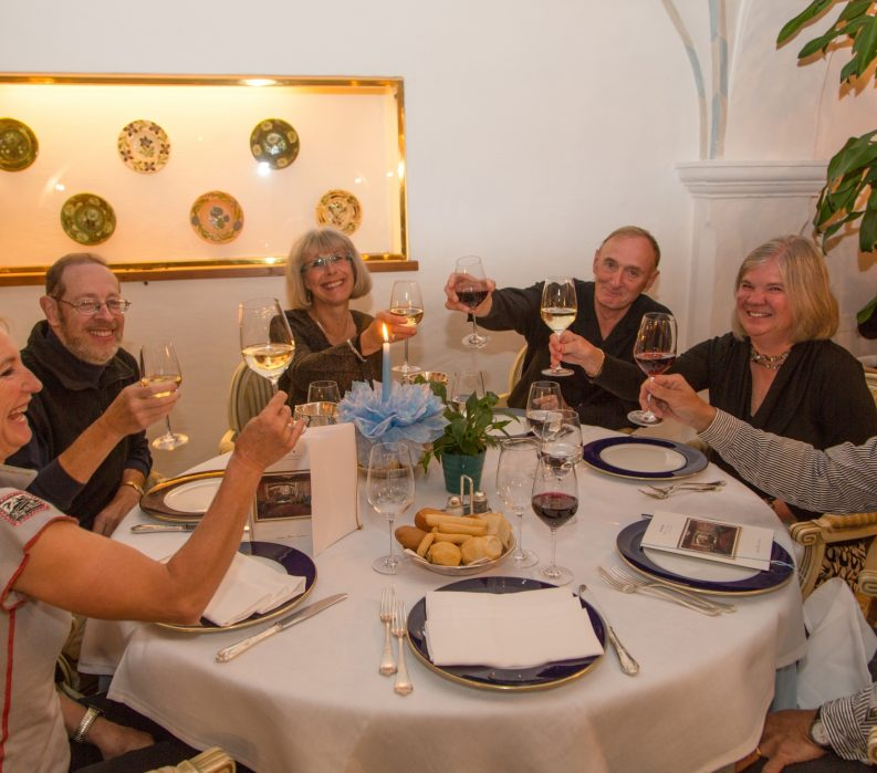 Group Dinner; wine; VBT Dolomites Bike Tour