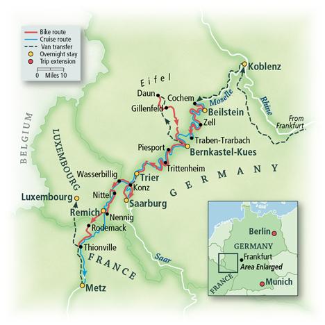 Heart of Europe Bike & Boat: Cochem to Metz 1