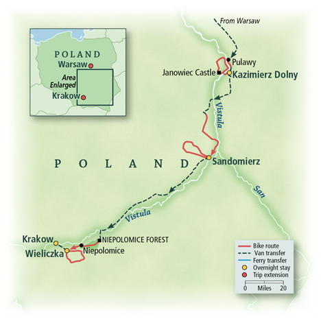 Poland: Cycling through the Old World Bike Tour | VBT Bicycling and on buenos aires world map, bulgaria world map, krakow poland map, jakarta world map, quito world map, sicily world map, ashdod port map,