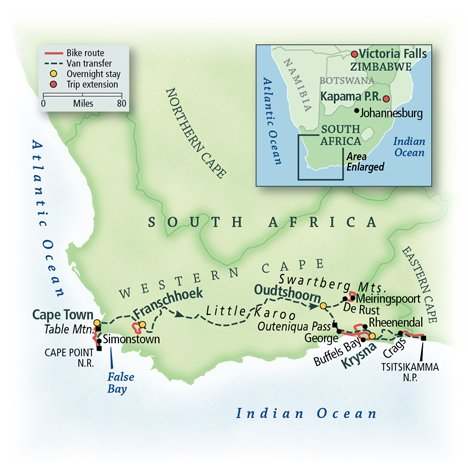 Cycling South Africa: Cape Town & the Garden Route 1